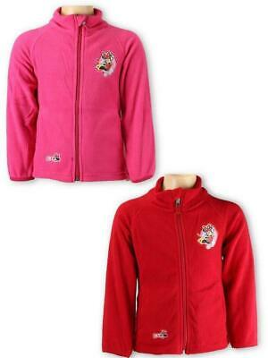 Girls Minni Mouse Red Pink Super Soft Fleece Cardigan Light Jacket Ages:3-8years