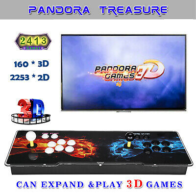 3D Pandora's Box 2413 in 1 Family Video Games Double Stick Arcade Console Audio
