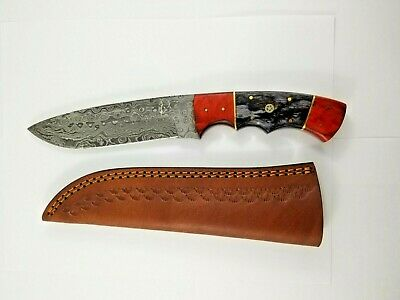 Beautiful Custom Hand Made Knife With Damascus Steel 440C