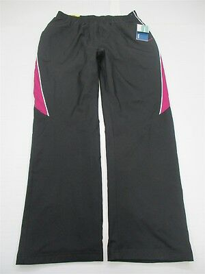 new REEBOK Pants Women's Size M Athletic Lined Woven Black/Brazen #WA5378