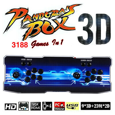 3188 in 1 Video Games Double Stick Retro Arcade Console 2 Player HD Fr PC Laptop