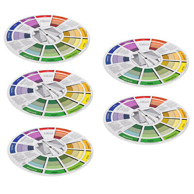 5x Color Mixing Guide Wheel Paint Matching/Pigment Blending Palette Chart