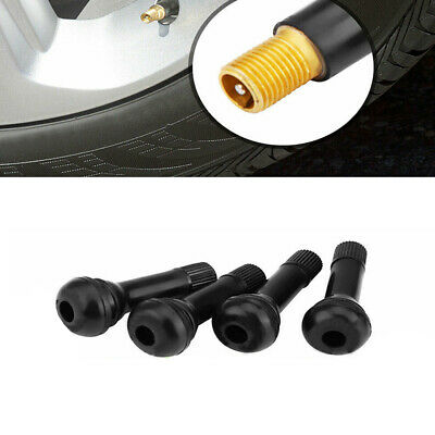 25pcs TR414 Snap-In Auto Car Tire Wheel Valve Stems Medium Black Rubber Kit