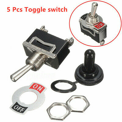 Heavy Duty Toggle Flick Switch 12V ON//OFF Car Dash Light Metal 12 Volt DPST
