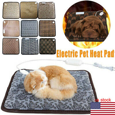 Waterproof Pet Heated Warmer Bed Pad Puppy Dog Cat Bed Mat Electric Heater Pad