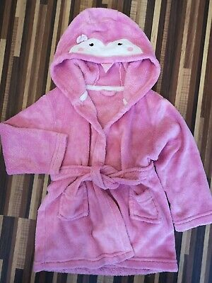 Soft fleece Pink Penguin Dressing Gown Age 2-3 Years Old Stocking Filler 🎄