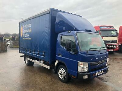 Mitsubishi Canter Fuso auto 3 seats low kms roof kit long MOT curtainside body