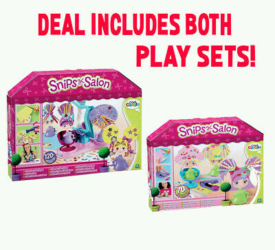 SNIPS SALON  GLITTER GLAM and CRIMPING  Salon Creative Toy Playset Kids