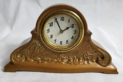 Antique American Mechanical Mantel Clock By Jefferson County Savings Bank N.Y.