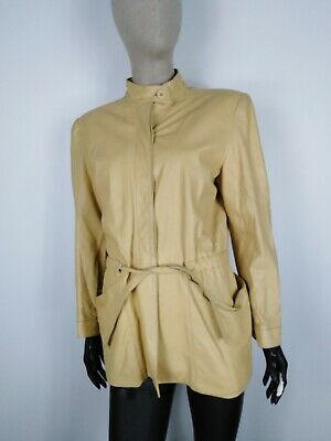 CAPPOTTO VINTAGE VERA PELLE MADE IN ITALY Giubbotto Giacca Tg 44 Donna