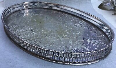 Beautiful silver plated galleried tray by Viners of Sheffield