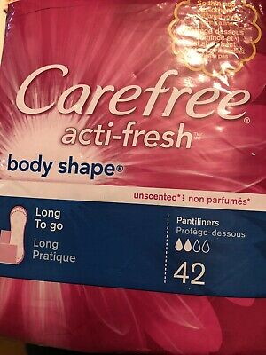 CAREFREE Acti-Fresh Body Shape Long To Go Pantiliner, Unscented 42 ea
