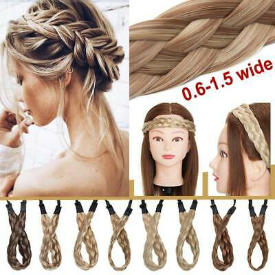 35-50g THICK / THIN Dutch Braids - Crown Braid as Real Hair Extensions Accessory