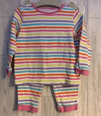 Girls Age 2-3 Years - Striped Pyjamas - Snuggle Fit