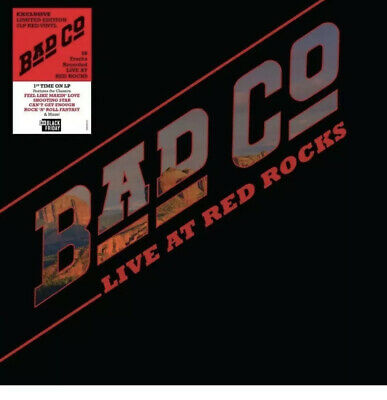 Bad Company Live At Red Rocks 2019 Black Friday Exclusive 2LP Red Vinyl
