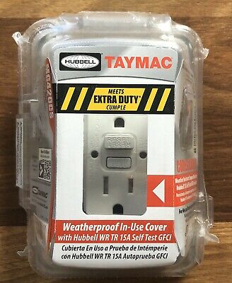 Hubbell Taymac Weatherproof In-Use Cover With 15amp GFCI