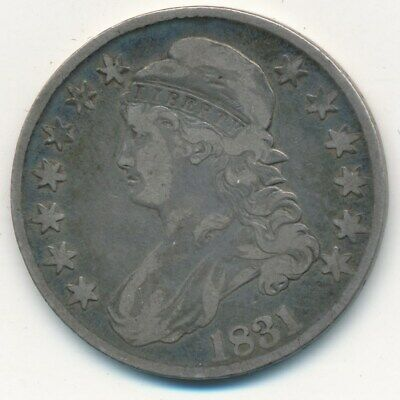 1831 Capped Bust Silver Half Dollar-Very Nice Circulated Half-Ships Free!
