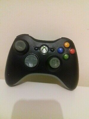 Official Microsoft Xbox 360 Wireless Controller Black MISSING BATTERY PACK