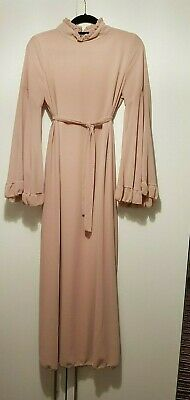 Dusty Pink Flair abaya with belt.New