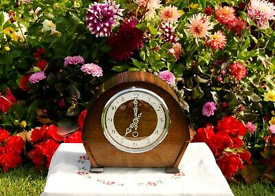 """(SMITHS) ENFIELD  ANTIQUE ART DECO """"TIME ONLY"""" MANTEL CLOCK, c1947"""