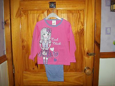 ***Look*** New Pink/Lilac Girl Pyjamas Size Age 3-4 ***