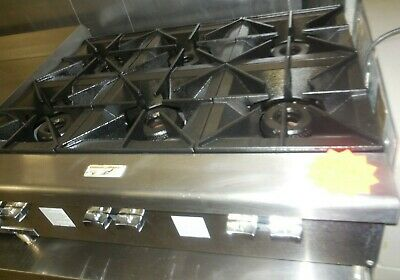 "Used! Vulcan Model: Vcrh36-1 - 36"" Counter Top With 6 Burners, Nat Gas"