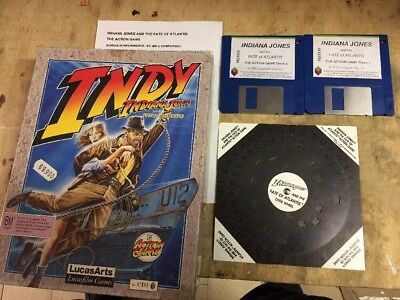INDIANA JONES AND THE FATE OF ATLANTIS (INDY ACTION GAME) Pc 1ª Edizione Big Box