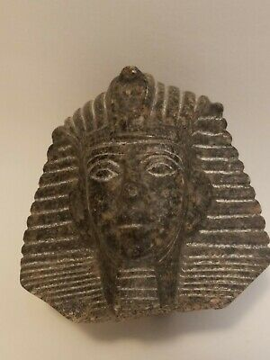 RARE ANTIQUE ANCIENT EGYPTIAN Statue Head King Tutankhamun 1343-1325 Bc