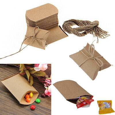 50-100 Rustic Sweet DIY Wedding Party Candy Gift Boxes Natural Shabby Chic Kraft