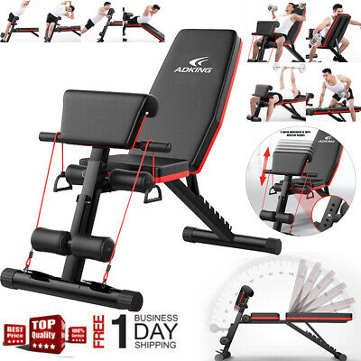Sit Up Press Folding Adjustable Incline Flat Lifting Workout Weight Bench New