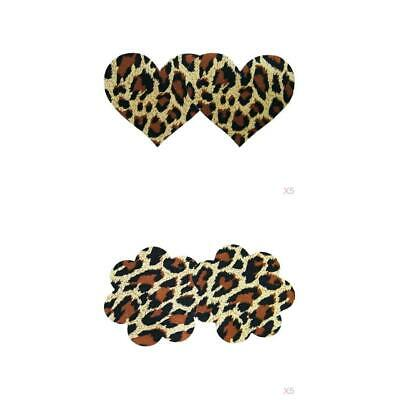 10 Pairs Sexy Disposable Pasties Heart Flower Shaped Leopard Prints Women
