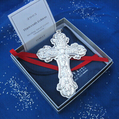 SALE • NEW • Towle 2005 'Old Master' Sterling Cross Ornament / pendant