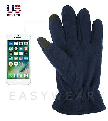 Mens Womens Fleece Touch Screen Winter Warm Thermal Thinsulate Gloves Mittens