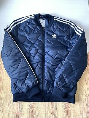 Adidas Originals Superstar Quilted Jacket Size Small S DH5013 Bomber Puffer