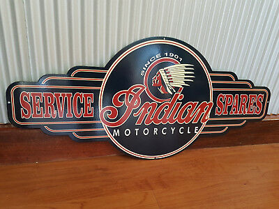 Indian motorcycles service spares metal tin sign bar garage bar motorbike
