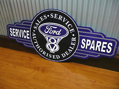 Ford V8 Sales Service Spares metal tin sign bar garage man cave GT XA XB XC 351