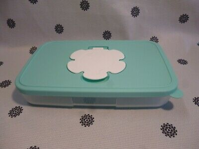 Tupperware Slim Small Baby Wipes Dispenser Container 650ml Mint Green New!