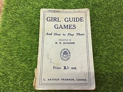 Vintage Girl Guides association Girl guides  games and how to play them book 64p