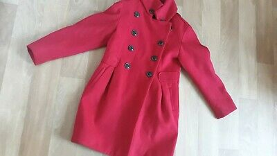 NEXT girls Red winter coat jacket AGE 7-8 YEARS