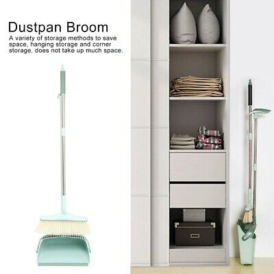 Upright Long Handle Dustpan And Brush Set Broom Household Sweeping Cleaning Use