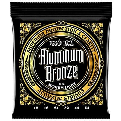 Ernie Ball 2566 Aluminum Bronze Medium Light Mute per Chitarra Acustica .012-.05
