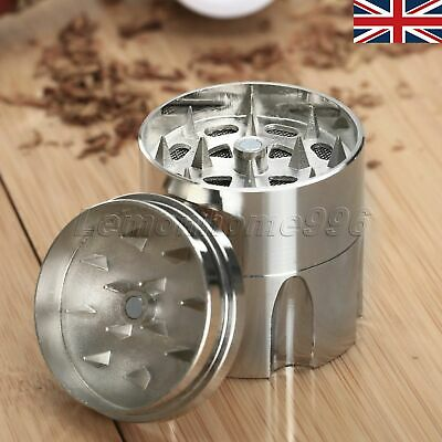 """UK STOCK 3 Layers 1.61"""" Tobacco Crusher Hand Muller Herb Spice Grinder Storage"""