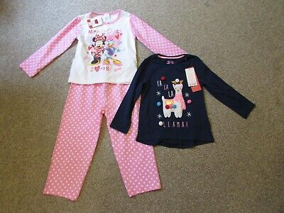 BNWT Avon girls 2-3 years Minnie Mouse pyjamas + F+F Christmas Llama top - Gifts