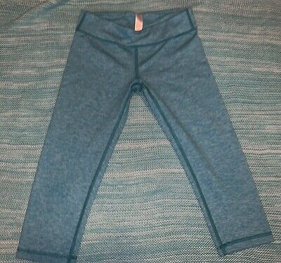 Ivivva By Lululemon Girls Rhythmic Crop Leggings Teal Size 12