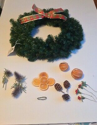 Christmas wreath making kit With Wreath.
