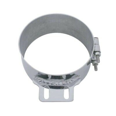 "Stainless Steel 8"" Butt Joint Exhaust Clamp W/ Straight Bracket"
