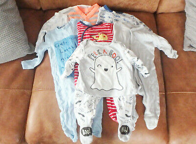 ** FAB Baby Boy Sleepsuit Bundle (0 - 1 to 0 - 3 months) - 7 Items