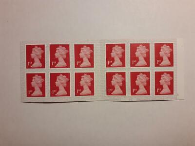 Brand New Book Of 12 Mint Unused First Class Red Security Stamps