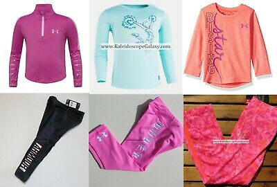 UNDER ARMOUR GIRLS 3T ~LEGGINGS ~ LONG SLEEVE TOP ~ NEW 6pc ~ $176