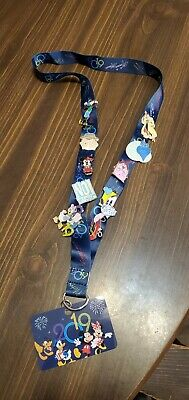 Disney Pins With Lanyard 10 Pins All Disney Parks Authentic Free Shipping